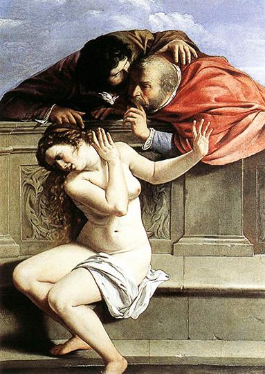 In copertina      Susanna e i vecchioni      1649     Artemisia Gentileschi, pittrice italiana