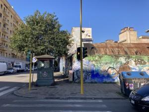 Via Ostiense angolo Via del Porto Fluviale, ex Magazzini  militari occupati dal 2003 ed area del Comune di Roma occupata da capannoni  in uso alla comunità di Sant'Egidio