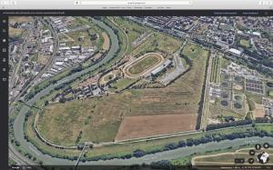L'area di Tor di Valle estratta da Google Hearth